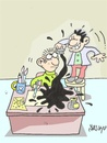 Cartoon: breaker-azizlik (small) by yasar kemal turan tagged breaker,cartoon,love,art,dialogue,sabotage,turkey