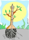 Cartoon: burn saz (small) by yasar kemal turan tagged love,saz