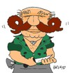 Cartoon: butcher (small) by yasar kemal turan tagged butcher