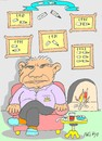 Cartoon: collection-retired (small) by yasar kemal turan tagged collection,broken,pen,execution,judge,retired