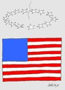 Cartoon: crisis (small) by yasar kemal turan tagged crisis,us,america,economy,finance,flag