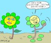 Cartoon: likes do not love (small) by yasar kemal turan tagged daisy,fal