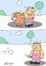 Cartoon: duel (small) by yasar kemal turan tagged duel