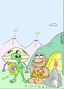 Cartoon: alien assistance (small) by yasar kemal turan tagged first,wheel,ufo,alien