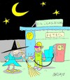 Cartoon: flight (small) by yasar kemal turan tagged flight,witch,petrol,broom