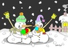 Cartoon: full time (small) by yasar kemal turan tagged full,time,love,ice,cream,snowman