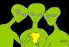 Cartoon: great review (small) by yasar kemal turan tagged great,review,ufo,love,pears,alien