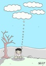 Cartoon: hope (small) by yasar kemal turan tagged hope,love,rain,cloud,drought,thought