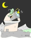 Cartoon: largest observation (small) by yasar kemal turan tagged largest,observation,star,telescope,ufo,alien