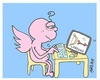 Cartoon: lazy-enter (small) by yasar kemal turan tagged lazy,loading,love,valentine,eros,internet,computer,facebook
