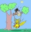 Cartoon: life is beautiful (small) by yasar kemal turan tagged life,is,beautiful