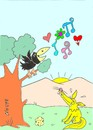Cartoon: love (small) by yasar kemal turan tagged love,fox,crow,cheese,song,serenade,nature