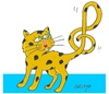 Cartoon: love of music (small) by yasar kemal turan tagged love,music,cat,left,mark