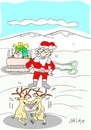 Cartoon: lovers (small) by yasar kemal turan tagged lovers,father,christmas