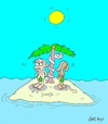 Cartoon: offended (small) by yasar kemal turan tagged offended,adam,eve,love,island