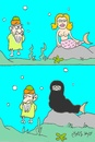 Cartoon: Osama bin Laden (small) by yasar kemal turan tagged usama,bin,ladin,mermaid