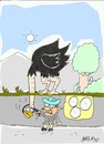 Cartoon: ostrich eggs (small) by yasar kemal turan tagged ostrich,attraction,movement,shock,egg