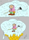 Cartoon: poles (small) by yasar kemal turan tagged eskimo,poles,ice,cream,snow,type,cold