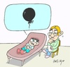 Cartoon: problem (small) by yasar kemal turan tagged problem,child,love,balloon,black,psychiatry,psychology