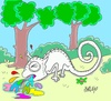 Cartoon: purify (small) by yasar kemal turan tagged purify,love,spew,chameleon,colors,nature