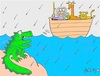 Cartoon: real (small) by yasar kemal turan tagged real,dinosaur,noah