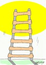 Cartoon: real power (small) by yasar kemal turan tagged real,power,ladder,sun,human,love