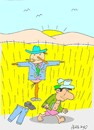 Cartoon: separation-rich (small) by yasar kemal turan tagged separation,scarecrow,rich