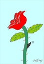 Cartoon: shark (small) by yasar kemal turan tagged rose,shark