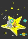 Cartoon: siminok (small) by yasar kemal turan tagged space,star,world