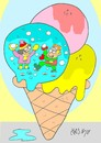 Cartoon: snowball (small) by yasar kemal turan tagged snowball,snow,winter,games,ice,cream
