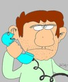 Cartoon: squeal (small) by yasar kemal turan tagged squeal,telephone,gossip