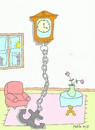 Cartoon: stop time (small) by yasar kemal turan tagged stop,time,hours,anchor