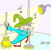 Cartoon: striptease (small) by yasar kemal turan tagged striptease,witch