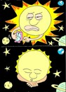 Cartoon: sun went to sleep (small) by yasar kemal turan tagged sun,went,to,sleep,star,hour