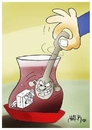 Cartoon: teaspoon (small) by yasar kemal turan tagged teaspoon