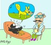 Cartoon: therapy (small) by yasar kemal turan tagged therapy,fox,crow,cheese,psychology