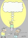 Cartoon: thought (small) by yasar kemal turan tagged thought