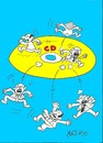 Cartoon: cd earthquake (small) by yasar kemal turan tagged mhp,policy,scandal,cd,resignation,turkey,politics