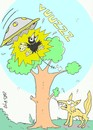 Cartoon: ufo attack-kidnap-love (small) by yasar kemal turan tagged ufo,attack,crow,fox,cheese,kidnap,love