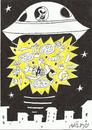 Cartoon: UFO PIZZA ATTACK (small) by yasar kemal turan tagged pizzapitch,pizza,ufo,attack,chef