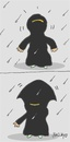 Cartoon: umbrella (small) by yasar kemal turan tagged umbrella,love,veiling,zealot,rain