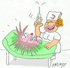 Cartoon: vaccine (small) by yasar kemal turan tagged vaccine