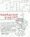 Cartoon: wall posts (small) by yasar kemal turan tagged wall,posts