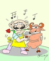 Cartoon: waltz (small) by yasar kemal turan tagged waltz,victim