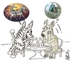 Cartoon: zebra and donkey (small) by yasar kemal turan tagged zebra,and,donkey