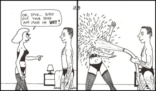 Cartoon: Hose (medium) by Jani The Rock tagged hose,wet,bedroom