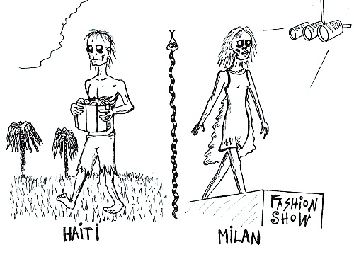 Cartoon: Zombies (medium) by Jani The Rock tagged zombie,zombies,fashion,model,haiti,milan,voodoo