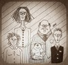 Cartoon: Family Portrait (small) by Jani The Rock tagged cyclops,family,portrait,horror,deformity