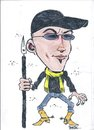 Cartoon: sertac profil (small) by sertacurer tagged portre