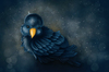 Cartoon: Bird (small) by alesza tagged bird,digital,painting,illustration,cute,animal,feather
